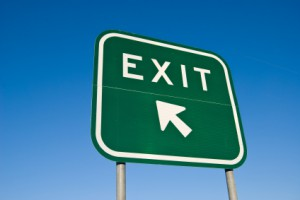Freeway exit sign
