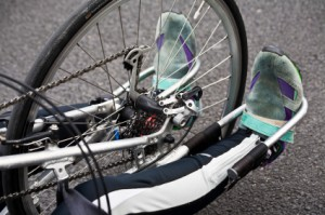 Disabled bike racer