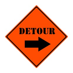 Detour This Way Sign