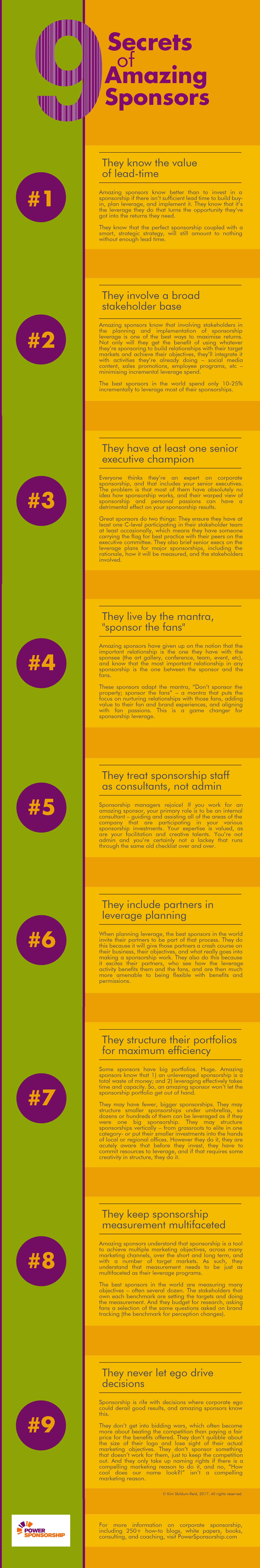 9 Secrets of Amazing Sponsors - big