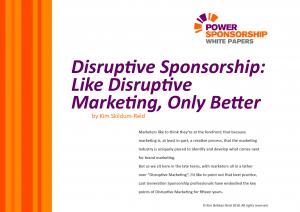 disruptive sponsorship best practice sponsorship