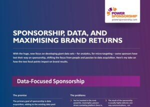 Sponsorship, data, and maximising brand returns