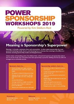 Power Sponsorship Workshops 2019 brochure